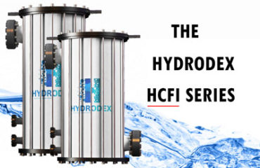 Hydrodex HCFI Series industrial cartridge filter housing with flange