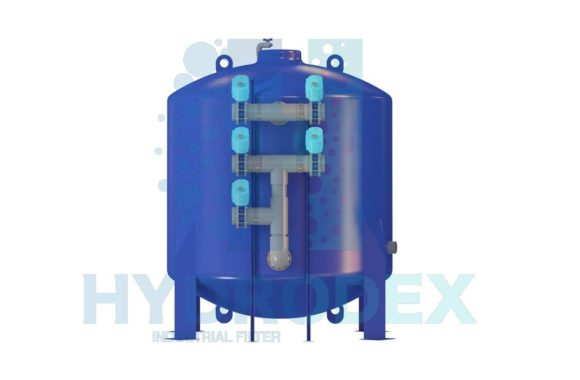 hydrodex multi media filter stainless steel tank automatic valve actuator
